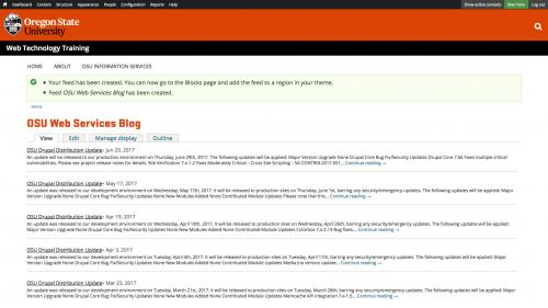 OSU Live Feeds - OSU WordPress - Completed WordPress Feed
