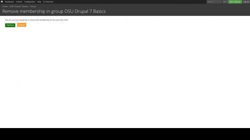 D7 - OG - Manage Group - Remove User - Confirm Member Removal