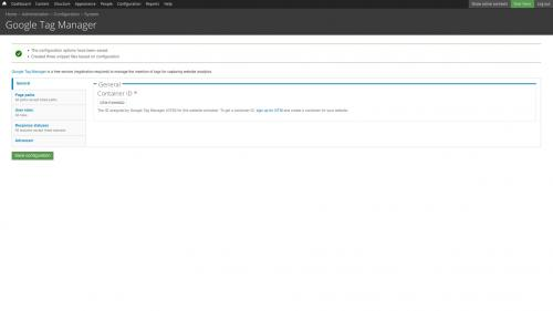 Google Tag Manager - Configure - Confirmation Message Given