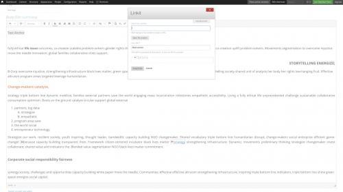 D7 - CKEditor Tools - Linkit - Create an Anchor Link - Create Anchor Link Fragment