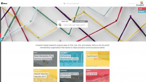 Biblio - Configure - Preferences - Crossref - Crossref Home Page