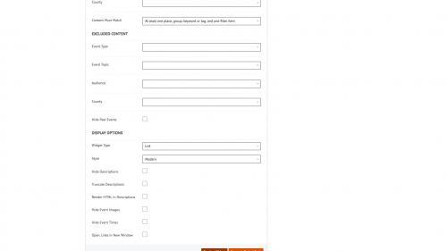 D7 - Working with Content - Calendar Widgets - Default Display Options