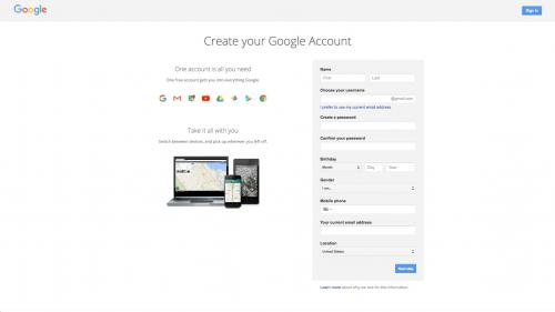 Google Analytics Module - Create Google Account - Enter Account Info