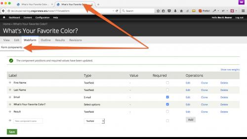 D7 - Webform - Configure Email - Go To Form Components