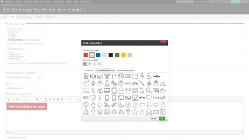 D7 Text Editor - OSU CKEditor Plugins - Button Picker - Combo - Select Icon Color and Size
