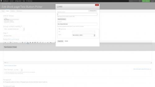D7 Text Editor - OSU CKEditor Plugins - Button Picker - Set Link
