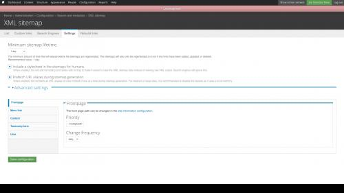 XML Sitemap Settings Tab