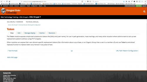 Pathauto - URL Path Pattern Configuration - List - Test Alias