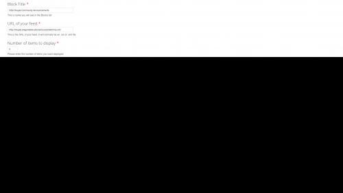 OSU Live Feeds - OSU Announcements - Update Block Title and URL Fields