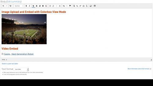 Media Module - Browser - Web Tab - Video Embed Looks Weird