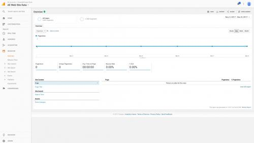 Google Analytics Module - Test Drive - Behavior Overview