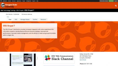 OSU Live Feeds - OSU WordPress - Block Enabled on Top Page