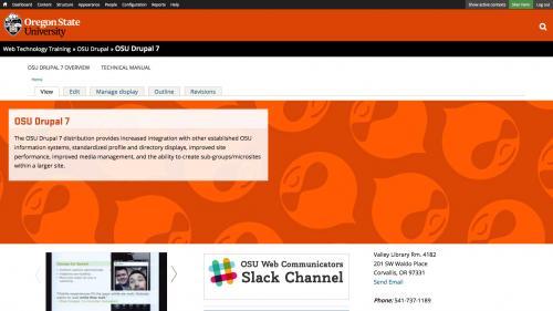 OSU Live Feeds - OSU WordPress - Block Enabled on Top Page