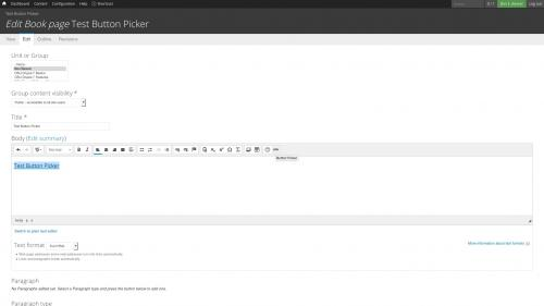 D7 Text Editor - OSU CKEditor Plugins - Button Picker - Click Button Picker Button
