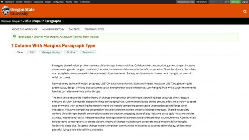 Using Paragraphs - 1 Column With Margins - Completed
