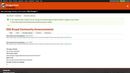 OSU Live Feeds - OSU Announcements - Completed Announcement Feed