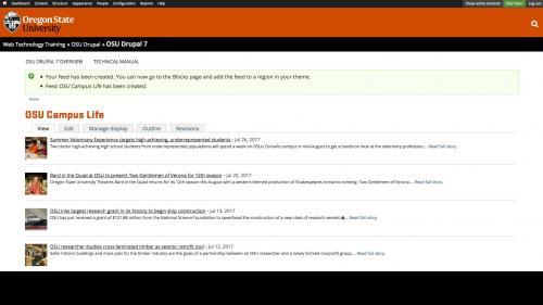 OSU Live Feeds - OSU News - Completed Feed Type