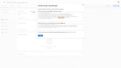 Google Tag Manager - Google Tag Manager ID in Code