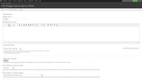 D7 - Fields - Configuration - Image Field - Hover on Browse Button