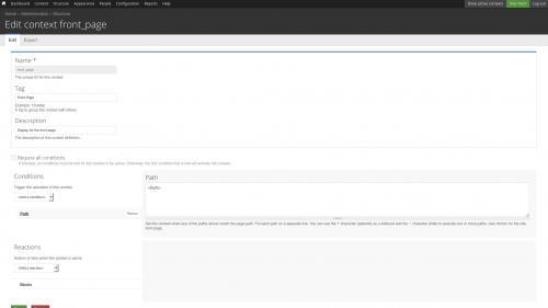 Context Module - Edit Existing Context - Open Conditions