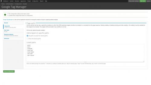 Google Tag Manager - Configure - Defaults - Page Path