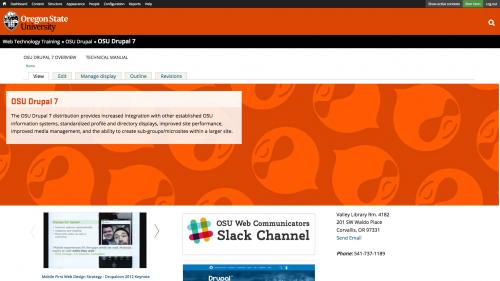OSU Live Feeds - OSU News - Block Placed on Top Page