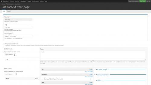 Context Module - Edit Existing Context - Open Reactions