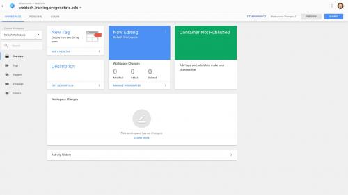 Google Tag Manager - Google Tag Manager ID in Upper Right Corner