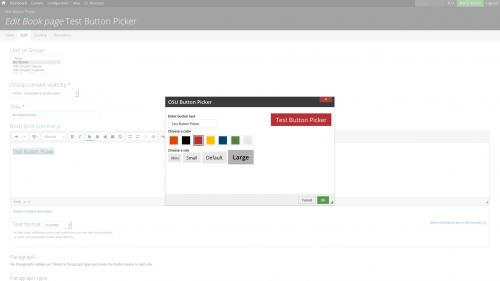 D7 Text Editor - OSU CKEditor Plugins - Button Picker - Select Color and Size
