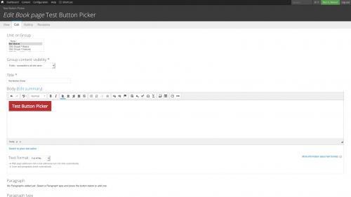 D7 Text Editor - OSU CKEditor Plugins - Button Picker - Button Created