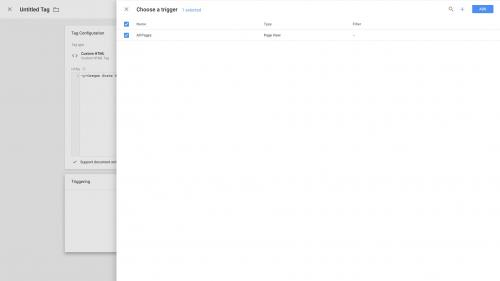 Google Tag Manager - Configure Container - Check Trigger