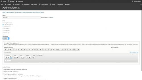 D8 Text Editor - Config - Drag Buttons to Toolbar