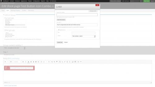 D7 Text Editor - OSU CKEditor Plugins - Button Picker - Combo - Set Link