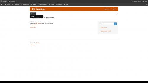 D8 - Structure - Navigation - Superfish Configuration - Completed Superfish Menu Addition