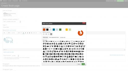 D7 Text Editor - OSU CKEditor Plugins - Icon Picker - Select Font Awesome Icon