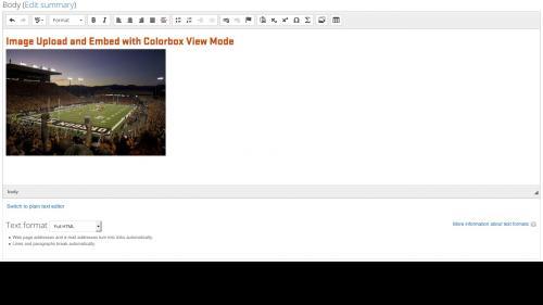 Media Module - Browser - Upload Tab - Image Embedded