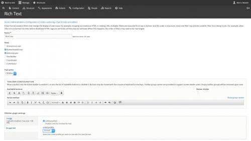 D8 Text Editor - Config - Linkit Enabled