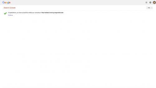 Metatag - Site-Verification - Verification Confirmation