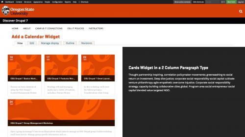 D7 - Working with Content - Calendar Widgets - Widget Samples