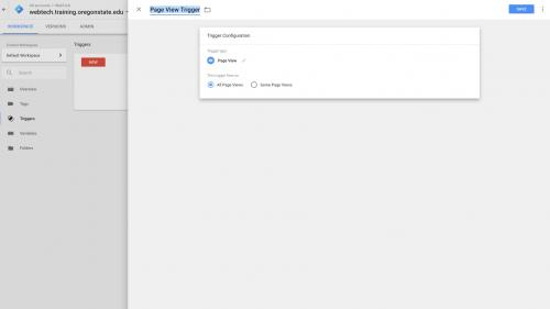 Google Tag Manager - Configure Container - Change Trigger Title