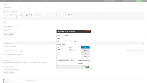 D7 - Text Editor - WYSIWYG Form Controls - DocuSign - Add Select Options
