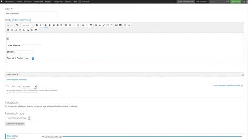 D7 - Text Editor - WYSIWYG Form Controls - DocuSign - Select Box Added