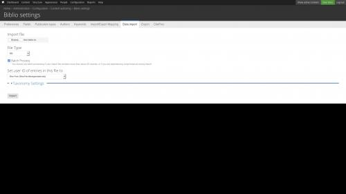 Biblio - Import Batch - Upload RIS File