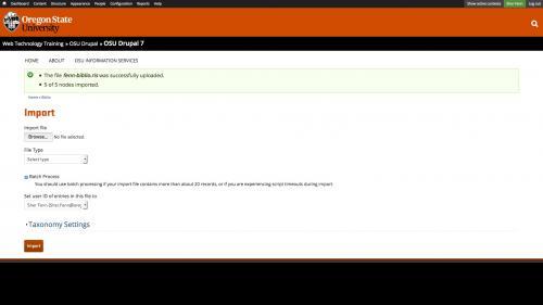 Biblio - Import Batch - Completed Batch Upload