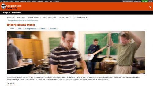 Features - Program Overview - Undergrad Options Tab