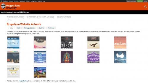 Features - Image Album Overview - Album Example