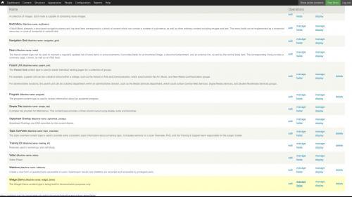 D7 - Fields - Manage Fields - Click Manage Fields Link