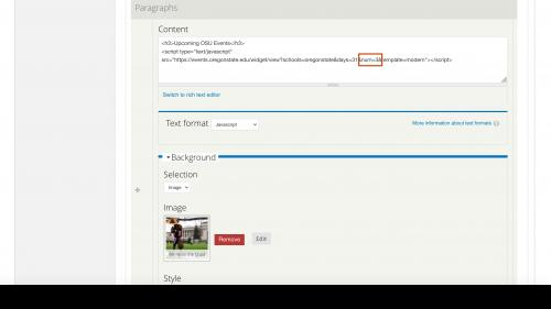 D7 - Working with Content - Calendar Widgets - Set Number of Events